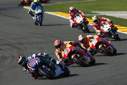 Jorge Lorenzo, Yamaha Factory Racing, und Marc Marquez and Dani Pedrosa, Repsol Honda Team