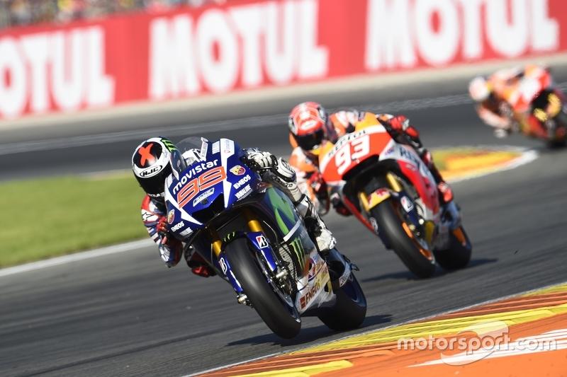 Jorge Lorenzo, Yamaha Factory Racing and Marc Marquez, Repsol Honda Team and Dani Pedrosa, Repsol Honda Team