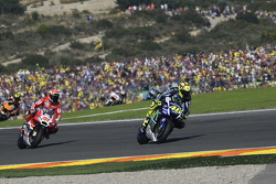 Valentino Rossi, Yamaha Factory Racing and Michele Pirro, Ducati Team