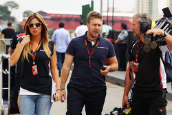 (L to R): Federica Masolin, Sky F1 Italia Presenter with Davide Valsecchi, Sky F1 Italia Presenter
