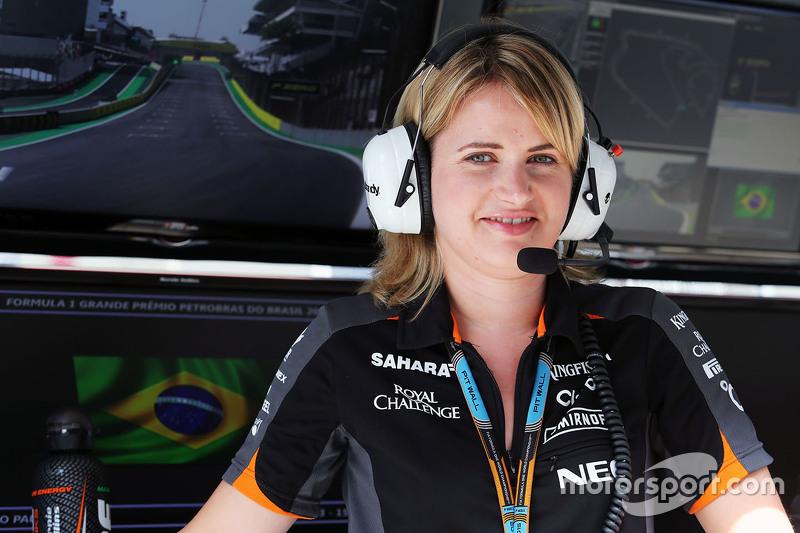 Бернадетт Коллинс, инжинер по производительности и стратегии команды Sahara Force India F1 Team