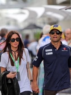 Felipe Nasr, Sauber F1 Team with his girlfriend Giulia Maria Testoni