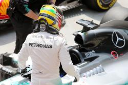 Lewis Hamilton, Mercedes AMG F1 W06 no parc ferme