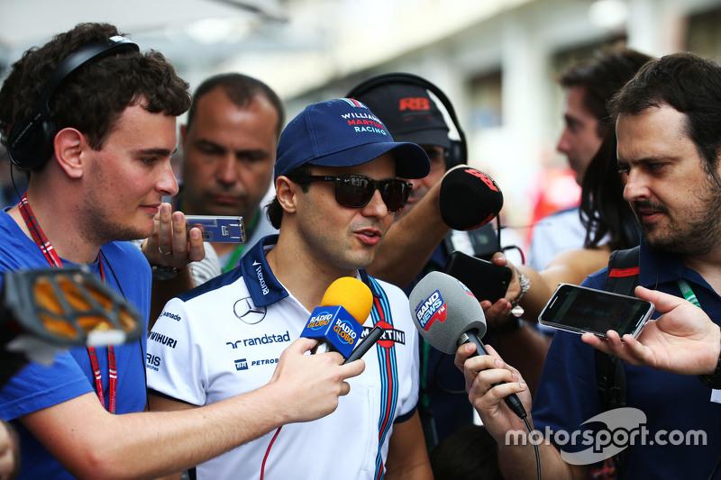 Felipe Massa, Williams, mit der Presse