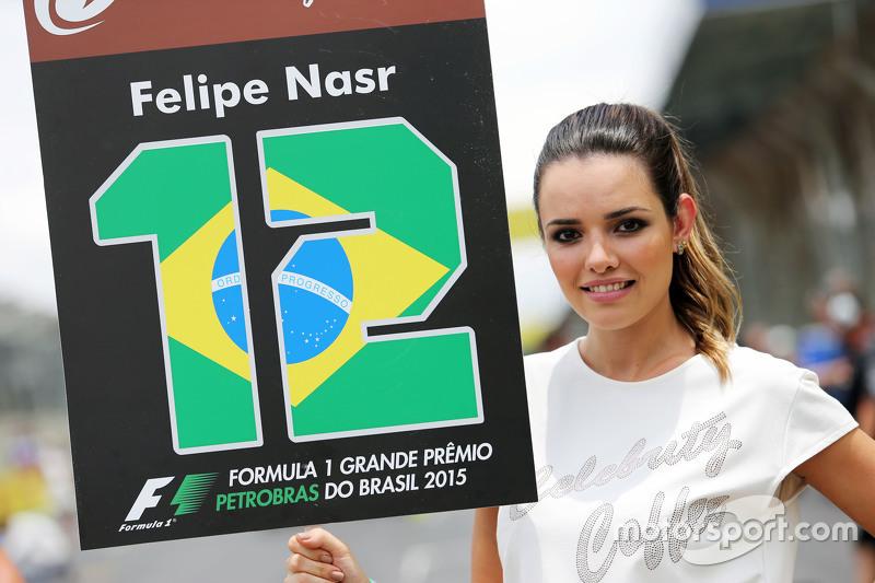 Grid girl de Felipe Nasr; veja as belas que passaram pelo paddock
