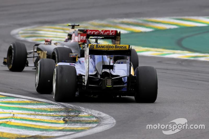 Felipe Nasr, Sauber F1 Team e Pastor Maldonado, Lotus F1 Team