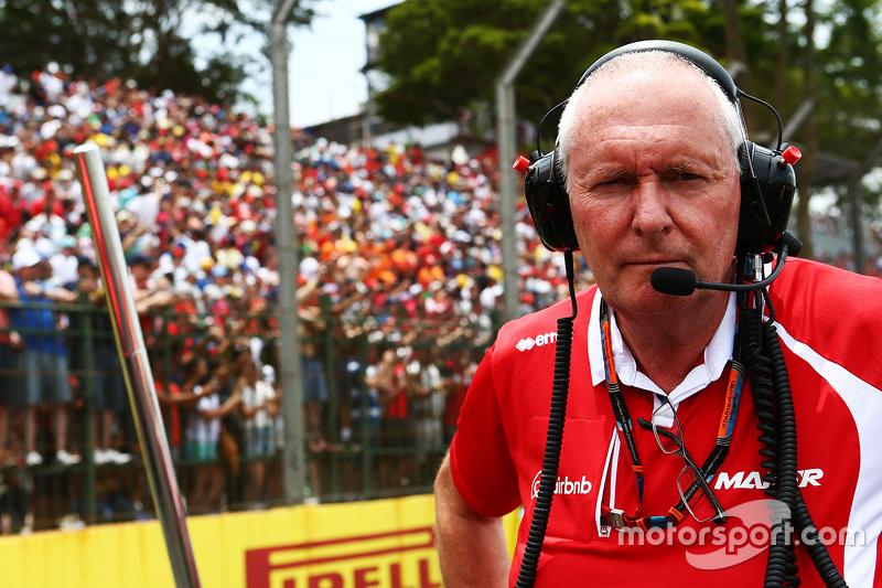 John Booth, Manor Marussia F1 Team, Teamchef, in der Startaufstellung
