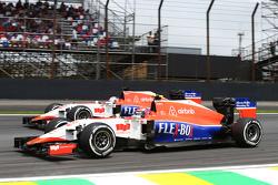 Alexander Rossi, Manor Marussia F1 Team en ploegmaat Will Stevens, Manor Marussia F1 Team