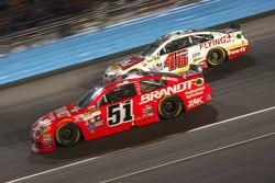 Justin Allgaier, Hscott Motorsports Chevrolet; Michael Annett, Hscott Motorsports Chevrolet