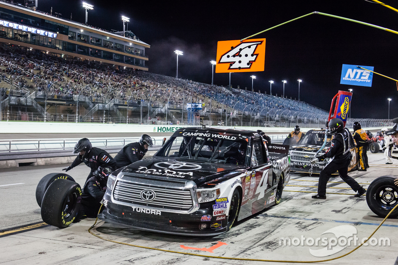 Pit stop for Erik Jones, Kyle Busch Motorsports