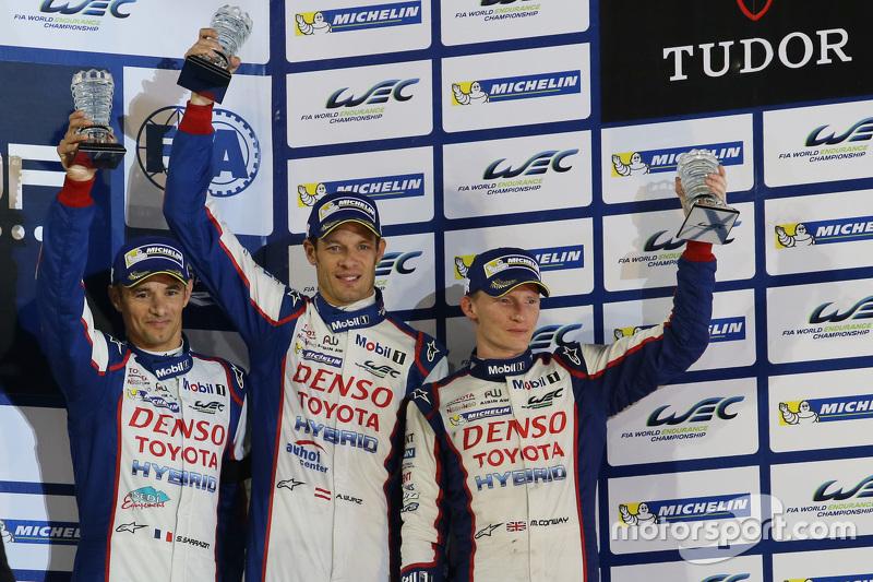 Podium: 3. Alexander Wurz, Stéphane Sarrazin, Mike Conway, Toyota Racing