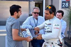 Juan Pablo Montoya avec Neel Jani, Porsche Team