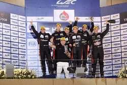 Подиум: Роман Русинов, Жюльен Каналь и Сэм Бёрд, G-Drive Racing, победители, Луис Дерани, Густаво Якаман и Рикардо Гонсалес, G-Drive Racing, третье место