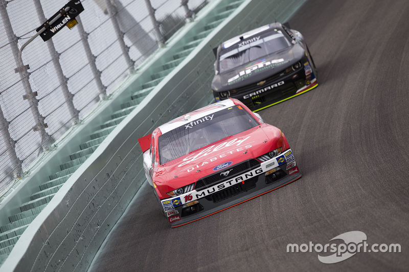 Ryan Reed, Roush Fenway Racing Ford and Ben Rhodes, JR Motorsports Chevrolet