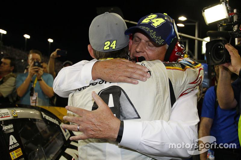Jeff Gordon, Hendrick Motorsports Chevrolet, mit Teameigner Rick Hendrick