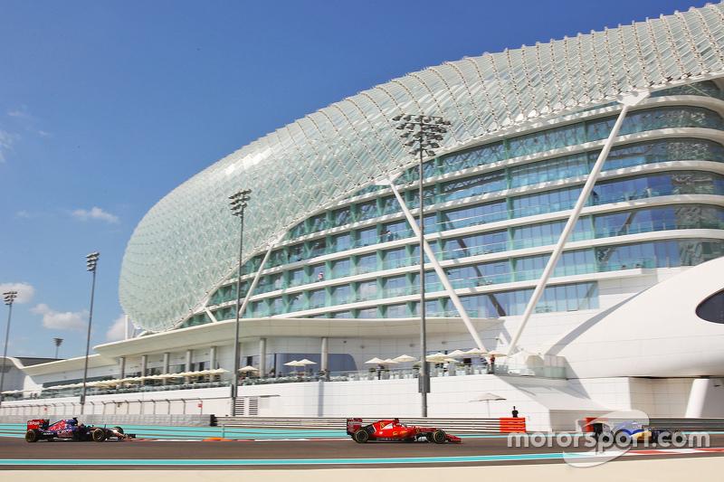 Marcus Ericsson, Sauber C34 leads Sebastian Vettel, Ferrari SF15-T and Max Verstappen, Scuderia Toro