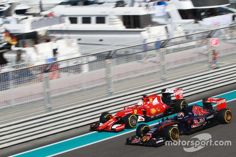 Макс Ферстаппен, Scuderia Toro Rosso STR10, Себастьян Феттель, Ferrari SF15-T