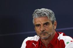 Маурицио Арривабене, руководитель Ferrari Team на пресс-конференции FIA