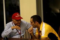 Ники Лауда, Mercedes и Сириль Абитбуль, управляющий директор Renault Sport F1