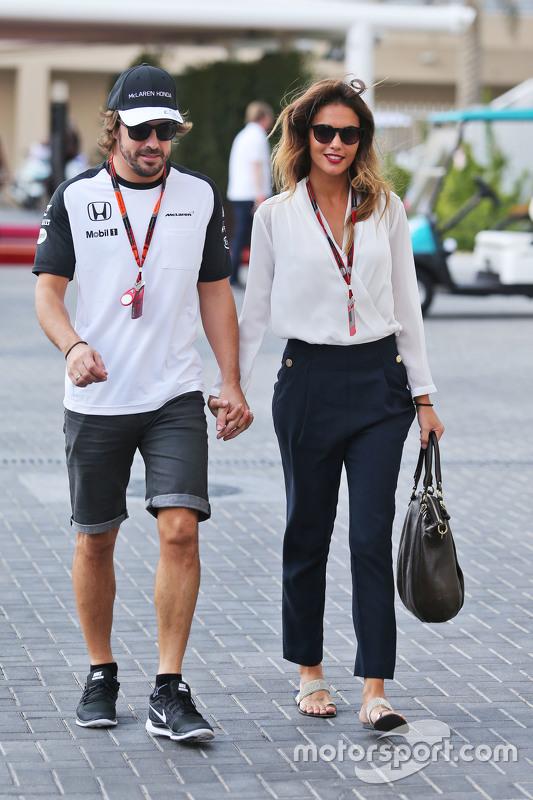 Fernando Alonso, McLaren et sa petite amie Lara Alvarez