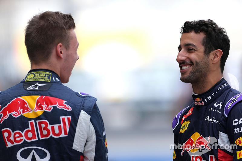 Daniel Ricciardo, Red Bull Racing and Daniil Kvyat, Red Bull Racing