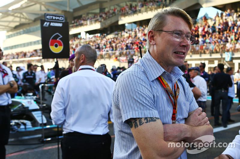 Mika Häkkinen in der Startaufstellung