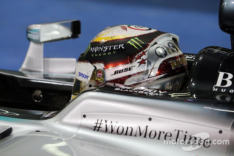 Segundo lugar, Lewis Hamilton, Mercedes AMG F1 W06