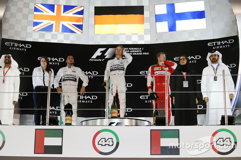 Podium: 1. Nico Rosberg, Mercedes AMG F1 Team; 2. Lewis Hamilton, Mercedes AMG F1 Team; 3. Kimi Räik
