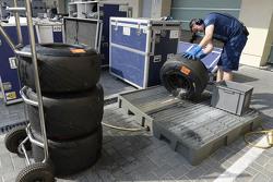 Инженер с шинами Pirelli