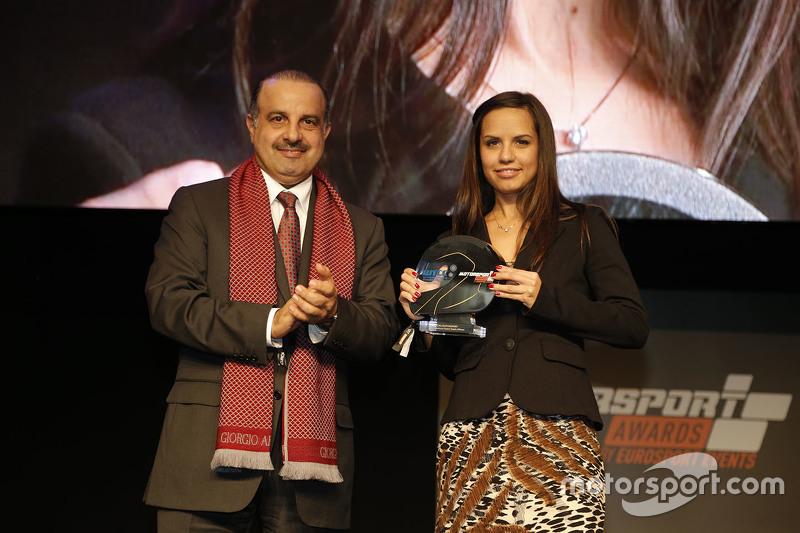 QMMF President Nasser Khalifa Al-Attiyah and Francesca Valdani