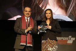 Presidente QMMF Nasser Khalifa Al-Attiyah y Francesca Valdani