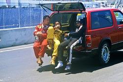 Juara balapan Keke Rosberg, Williams, peringkat kedua René Arnoux, Ferrari, peringkat ketiga Elio de Angelis, Lotus