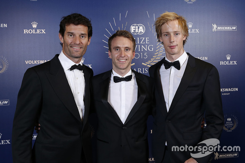 Mark Webber, Timo Bernhard e Brendon Hartley