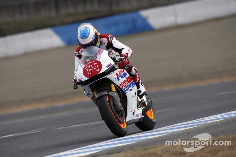 Fernando Alonso mengendarai motor Honda