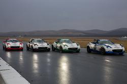 Mazda USA Mazda MX-5 finish together
