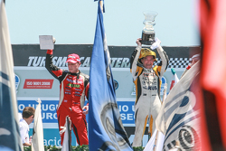 Podium Guillermo Ortelli, JP Racing Chevrolet, Omar Martinez, Martinez Competicion Ford