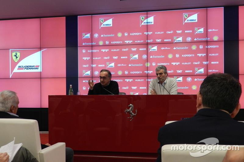 Sergio Marchionne, Ferrari-Präsident und FIAT-Boss, und Maurizio Arrivabene, Ferrari-Teamchef