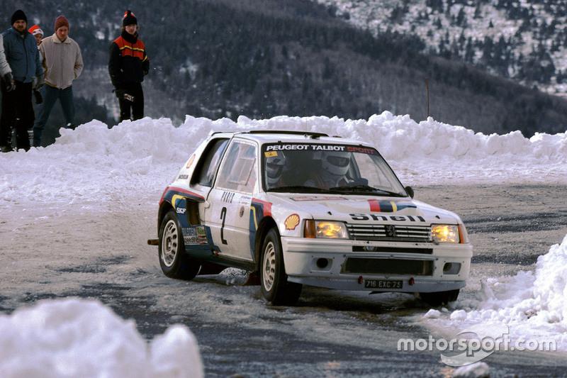 Ari Vatanen et Terry Harryman, Peugeot 205 T16