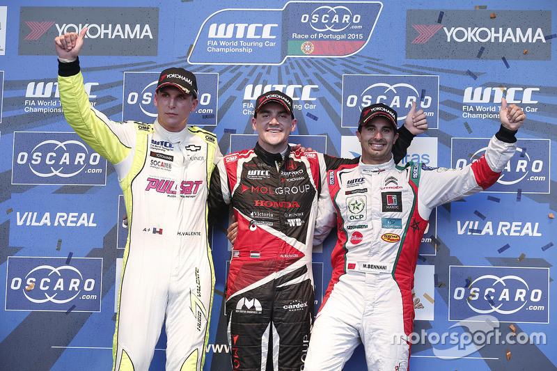 Hugo Valente, Campos Racing, Norbert Michelisz, Zengo Motorsport and Mehdi Bennani, Sébastien Loeb Racing