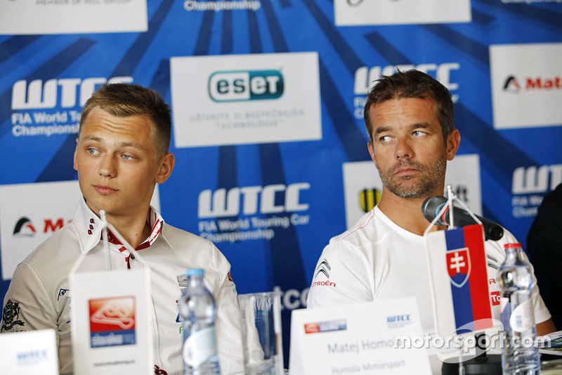 Press conference: Matej Homola, Chevrolet RML Cruze TC1, Campos Racing and Sébastien Loeb, Citroën C-Elysee WTCC, Citroën World Touring Car team