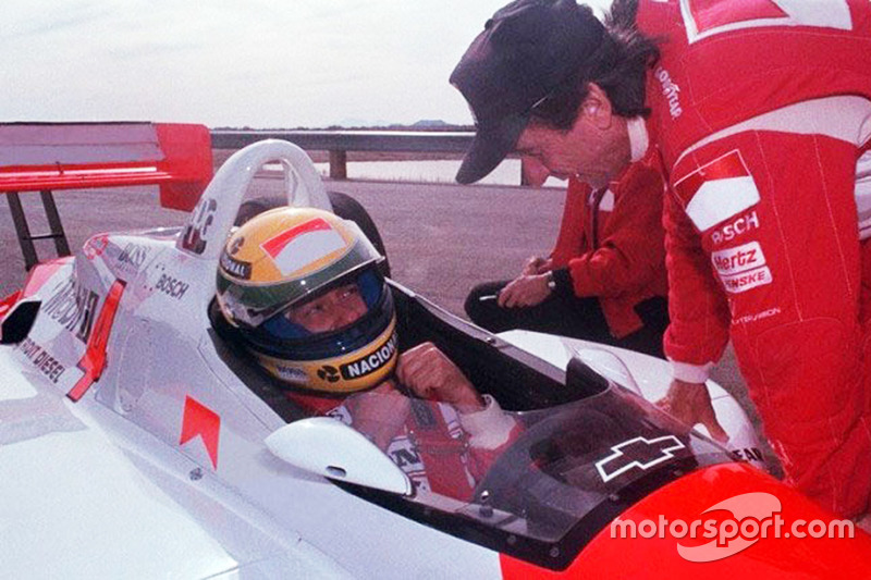 Ayrton Senna and Emerson Fittipaldi