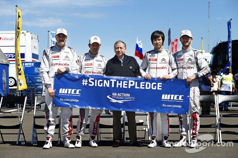 Citroen drivers group photo з Жан Тодт, Президент FIA