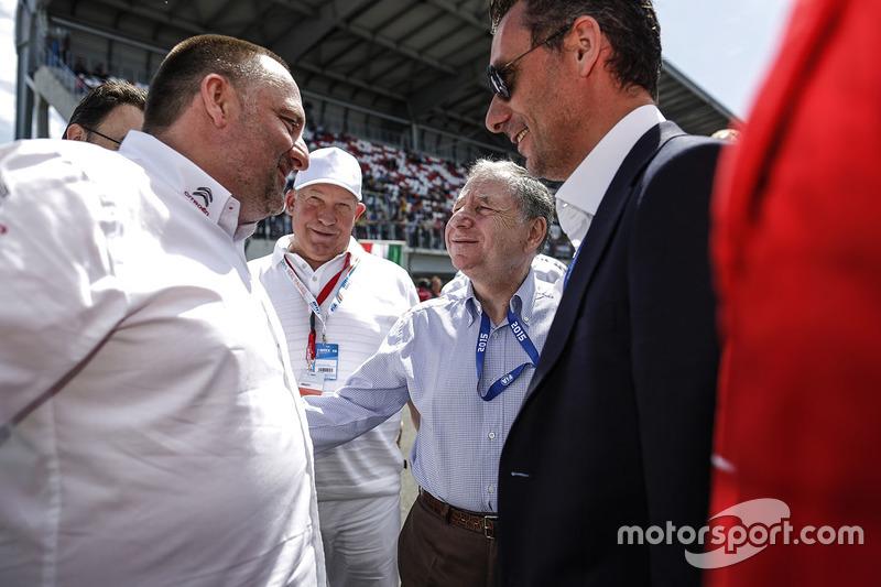 François Ribeiro, Eurosport Events Motorsport Director, Jean Todt, FIA president and Yves Matton, Citroën World Touring Car team