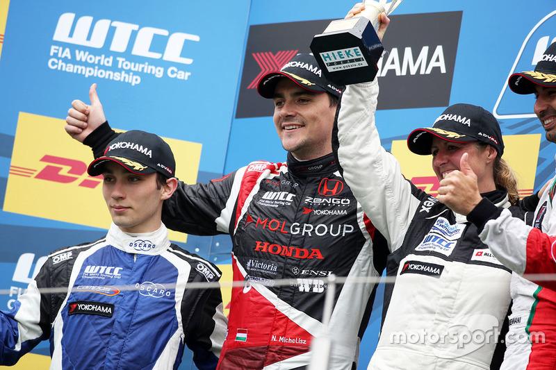 Podium: John Filippi, Chevrolet RML Cruze TC1, Campos Racing, Norbert Michelisz, Honda Civic WTCC, Z