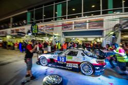 #10 Hofor-Racing Mercedes SLS AMG GT3: Christiaan Frankenhout, Kenneth Heyer, Roland Eggimann, Chantal Kroll, Michael Kroll