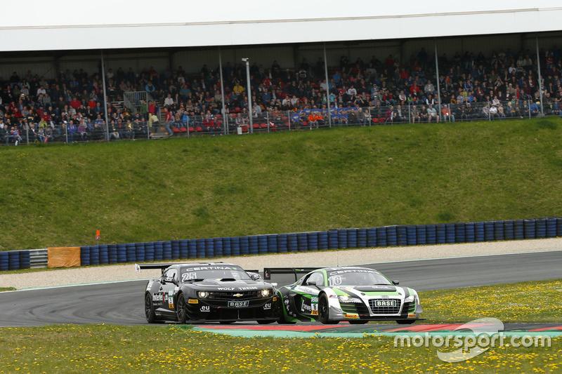 Rahel Frey, Philip Geipel, YACO Racing Audi R8 LMS ultra and Tomas Enge, Oliver Gavin, Reiter Engine