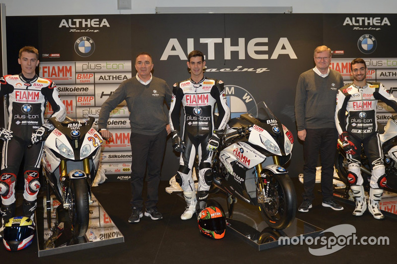 Markus Reiterberger, Jordi Torres e Raffaele De Rosa, Althea Racing