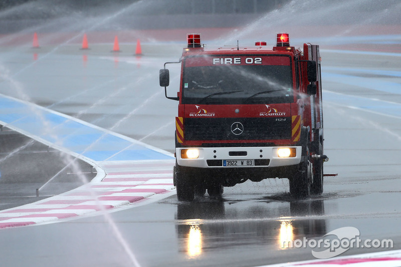 Fire truck on track