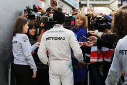 Lewis Hamilton, Mercedes AMG F1 Team met de media