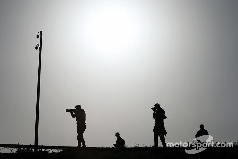 Fotógrafos en la acción